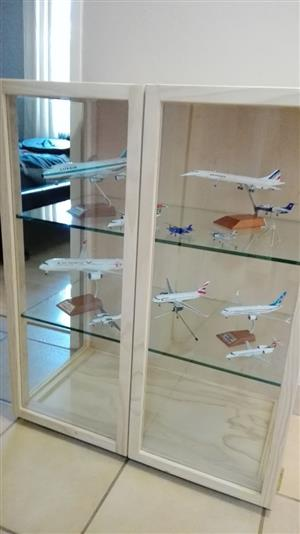 Aviation and aircraft models Glass Display /Show Cabinets , Dust Proof ! Custom made