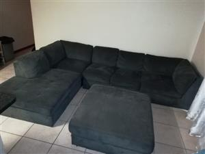 Big L shape couch + Ottoman For Sale