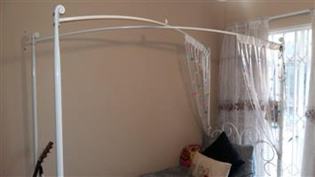 White Four Poster Canopy Bed