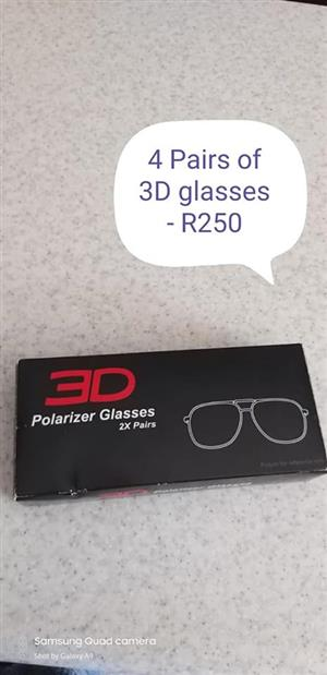 4x 3D pollarazer glasses