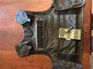 Zebra Armour Bullet Proof vest with Polyplate and extras