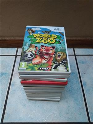 Assortment of Wii Games on Optical Disk