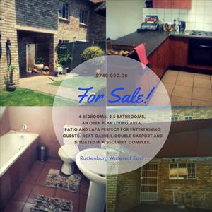 Neat townhouse in Waterval East