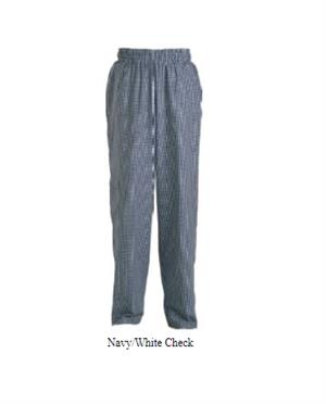 Chef Baggy Pants - Navy-White Check