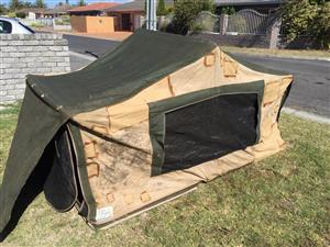 Canvas Roof top tent - a little worse for wear but fully usable
