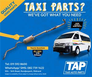 Toyota Quantum EXHAUST - Taxi Auto Parts quality used spares - TAP