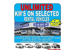 Unlimited km's on selected vehicles