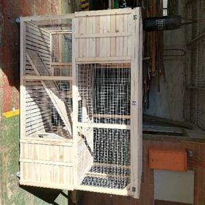 flat roof mansion rabbit hutch