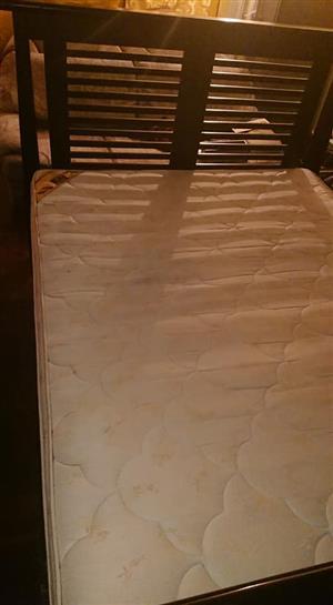 Solid Oak base wth headboard n matress