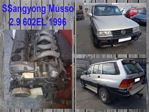 Ssangyong Musso 2.9 602EL 1996 spares for sale