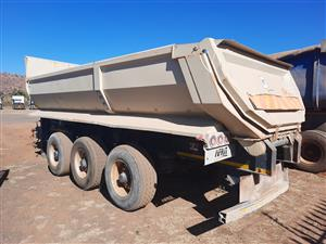 2018 Afrit 3 axle draw bar tipper trailer