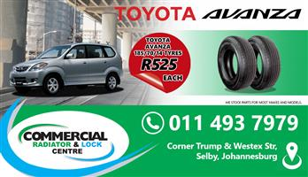 "185/70/14"" BLACK WALL TYRES"