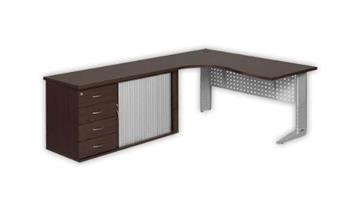 C Leg Curve Desk and Pedenza