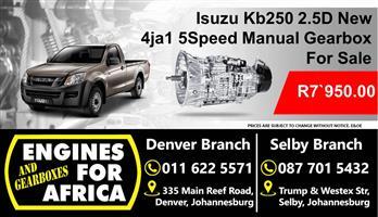Isuzu Kb250 2.5D 4ja1 5Speed Manual Gearbox New For Sale