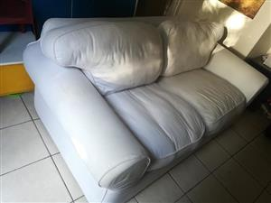 Coricraft White slip cover couch for sale
