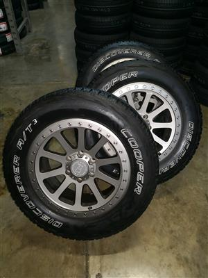 Black Rhino hard alloy rims and tyres