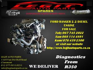 FORD RANGER 2.2 DIESEL  ENGINE FOR SALE