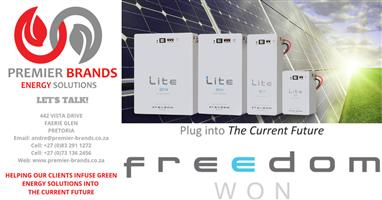 Freedom Lite Home 5/4 Lithium LiFePO4 Battery System