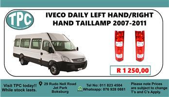 Iveco Daily Left Hand/Right Hand Taillamp 2007 - 2011 - For Sale at TPC.
