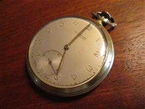 Vintage, antique SWISS MADE AVIA pocket watch, mechanical movement, works fine