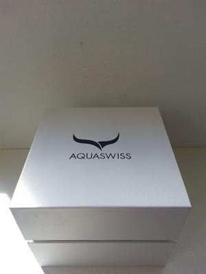 Aquaswiss Men's Chunky Thick Classic IV with Black Leather Band