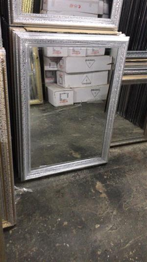 Smaller silver framed mirrors