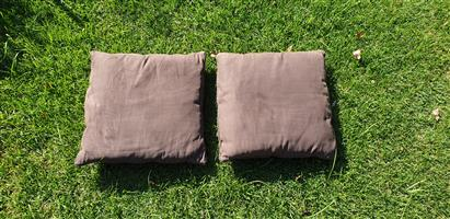 Cushions / Pillows Brown Suede - Chaocolate Brown Colour - 50cm x 50cm, price is for both