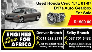 Used Honda Civic 1.7L Vtec 01-07 D17a Auto Gearbox For Sale
