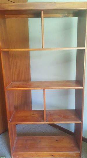 Pine bookcase/display case