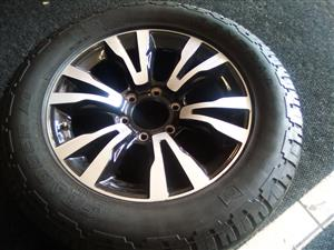 18 inch Isuzu mag with 255/60/18 used tyre R2000.00.