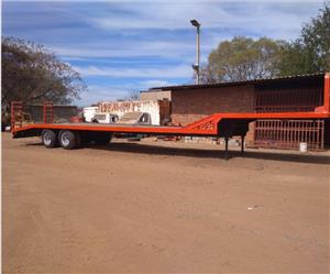 S1027 Double Axle Flat Bed Trailer 16m with Ramps / Dubbel As Wa Pre-Owned Trailer
