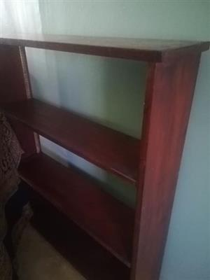 3 tier mahogany bookshelf for sale.