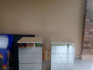 Mirror PEDESTALS /bedside tables for sale