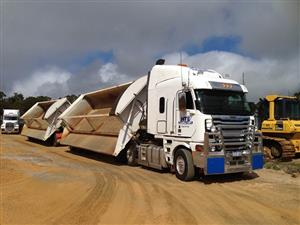 WANTED x5 Side Tippers for Hire on a long term contract