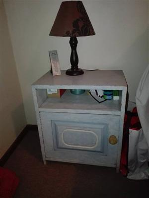 Bedside stand with lamp for sale
