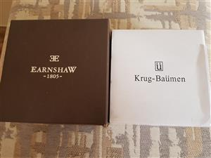 Earnshaw and Krug Baumen watches