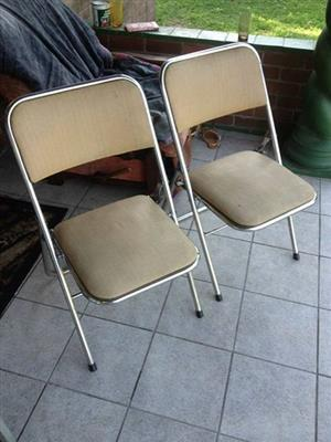 2 Fold up chairs for sale
