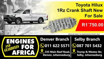 Toyota Hilux 1Rz Crank Shaft New For Sale.