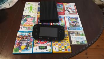 Wii u with 12 games