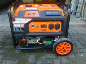 Grip 5.5 Kba Petrol Generator (unleaded); Price Reduced to R6k
