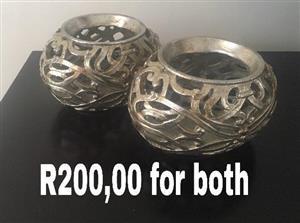 Silver bowl ornaments