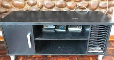 Dark grey tv stand for sale