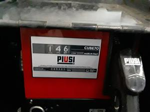 PIUSI Diesel pump complete with hoze, nozzle, mechanical meter and black security box (anti theft) – R7 990.00