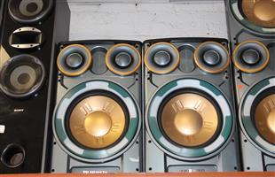 Telefunken speakers with built in amp S030563A #Rosettenvillepawnshop