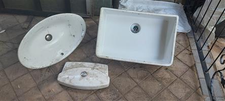 Ceramic basins in good condition