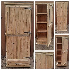 Kitchen Cupboard Farmhouse series Free standing 1900 with 1 door and drawer Raw