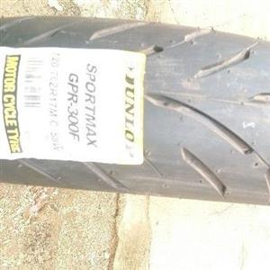 Brand new Dunlop front motorbike tyre, size 120 /70 /17