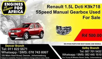 Renault 1.5L Dcti K9k718 Turbo 5Speed Manual Gearbox Used For Sale.