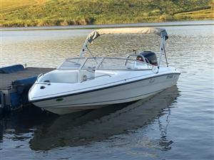 Panache 1850 speed boat fitted with a 200hp Yamaha Vmax motor
