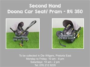 Second Hand Doona Car Seat/ Pram - Brown